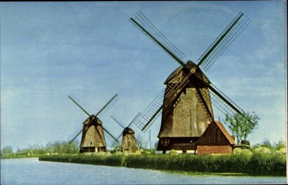 Ak Hollandse Molens, Holländische Mühlen, Windmühlen