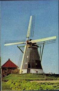 Ak Hollandse Molen, Holländische Mühle, Windmühle, Belt Korenmolen, Nuth Limburg Niederlande