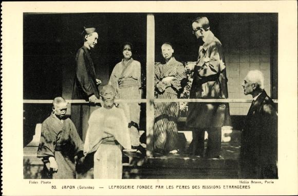 Ak Gotunba Japan, Léproserie fondée par les pères des missions etrangères, Lepra Station