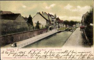 Ak Saverne Zabern Elsass Bas Rhin, Rhein Marne Kanal, Große Schleuse