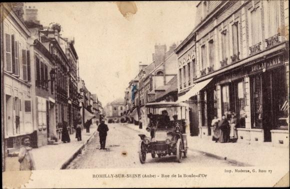Ak Romilly sur Seine Aube, Rue de la Boule d'Or