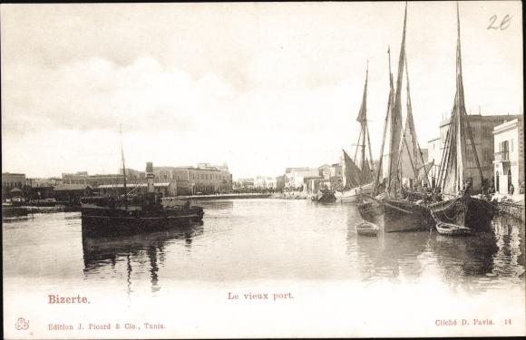 Ak Bizerte Tunesien, Le vieux port