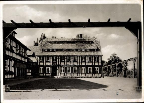 Ak Veckenstedt Grovesmühle Nordharz in Sachsen Anhalt, Hermann Lietz Schule, Das Haupthaus