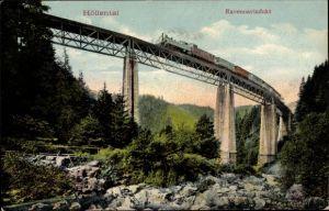 Ak Breitnau Schwarzwald, Höllental, Ravennaviadukt