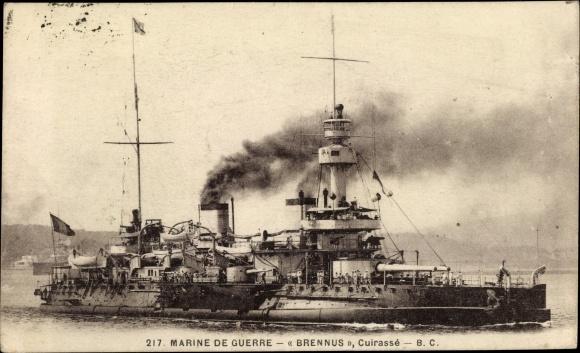 Ak Französisches Kriegsschiff, Marine de Guerre, Brennus, Cuirassé, Marine Militaire Francaise