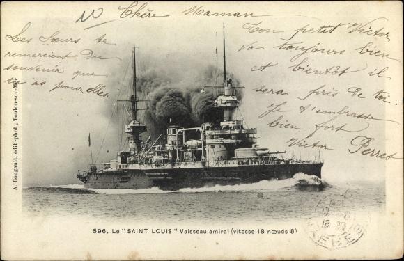 Ak Französisches Kriegsschiff, Saint Louis, Vaisseau amiral, Marine Militaire Francaise