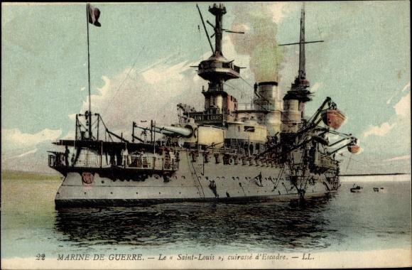 Ak Französisches Kriegsschiff, Le Saint Louis, Cuirassé d'Escadre, Marine Militaire Francaise