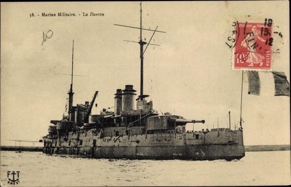 Ak Französisches Kriegsschiff, Le Danton, Marine Militaire Francaise