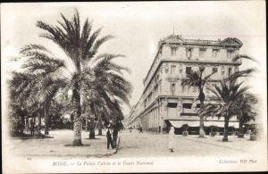 Ak Bone Algerien, Le Palais Calvin et le Cours National, palmes