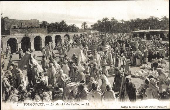 Ak Touggourt Algerien, Le Marché ds Dattes