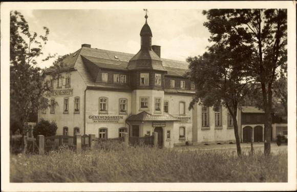 Ak Kretscham Rotensehma Sehmatal Erzgebirge, Genesungsheim d. Sozialversicherung
