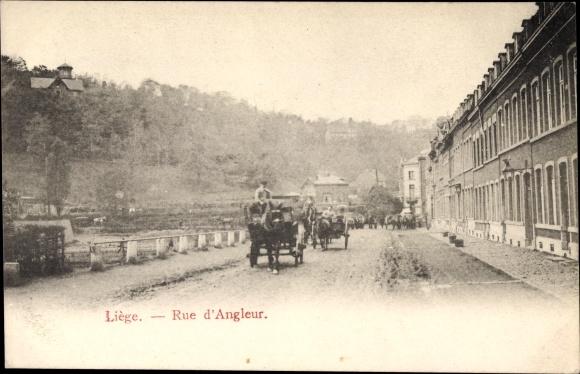 Ak Liège Lüttich Wallonien, Rue d'Angleur, Straßenpartie