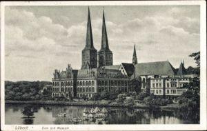 Ak Lübeck in Schleswig Holstein, Dom und Museum