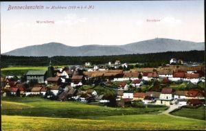 Ak Benneckenstein Oberharz am Brocken, Blick auf den Ort, Wurmberg und Brocken
