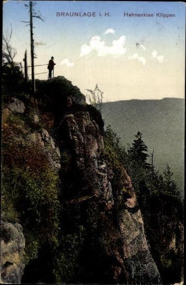 10 alte Ansichtskarten Braunlage im Oberharz, Diverse Ansichten