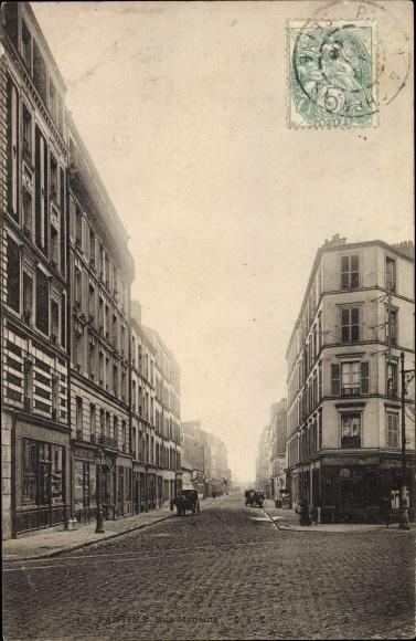 Ak Pantin Seine Saint Denis, Rue Magenta, Straßenpartie