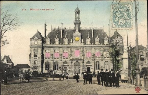 Ak Pantin Seine Saint Denis, La Mairie, Bürgermeisteramt