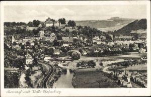 Ak Kronach im Frankenwald Bayern, Veste Rosenberg mit Ort