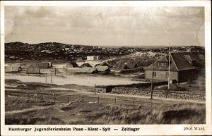Ak Sylt in Nordfriesland, Jugendferienheim Puan Klent, Zeltlager