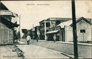 Ak Tamatave Toamasina Madagaskar, Rue du Commerce, Straßenpartie