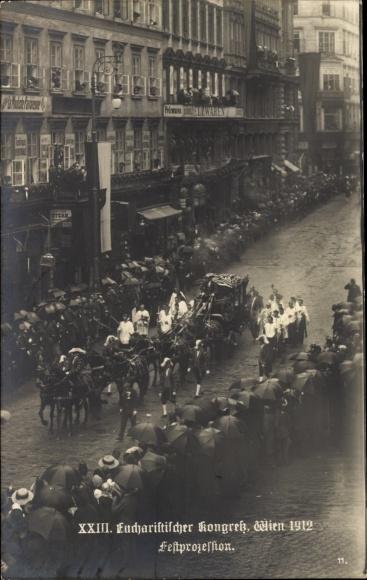 Ak Wien 23. Liesing Österreich, Eucharistischer Kongress 1912, Festprozession