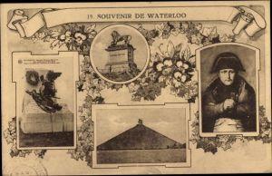 Ak Waterloo Wallonien Wallonisch Brabant, Napoleon Bonaparte, portrait, Souvenir de Waterloo