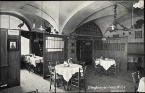 Ak Salzburg in Österreich, Stieglmayer Weinstube, Innenansicht