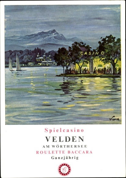 Künstler Ak Velden am Wörther See in Kärnten, Spielcasino