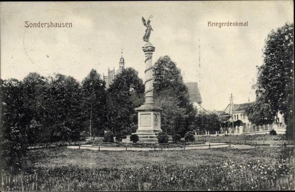 Ak Sondershausen im Kyffhäuserkreis Thüringen, Kriegerdenkmal