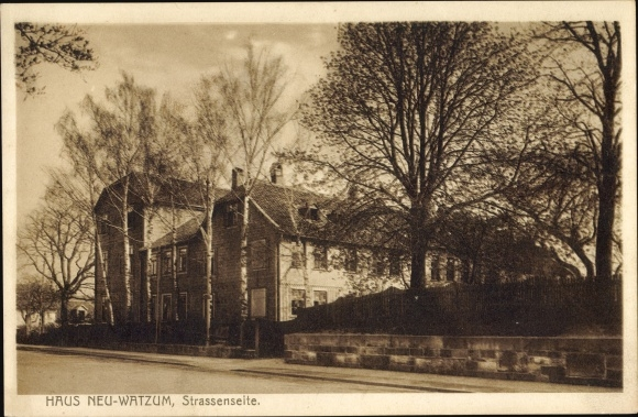 Ak Wolfenbüttel in Niedersachsen, Haus Neu Watzum, Straßenseite