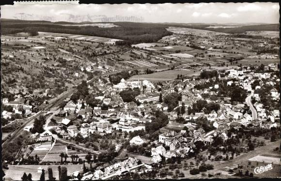 Ak Erbach im Odenwald Hessen, Panorama vom Ort, Cekade Fliegeraufnahme