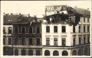 Foto Ak Düsseldorf am Rhein, Neusser Straße, Unwetterschäden 1924, Dach