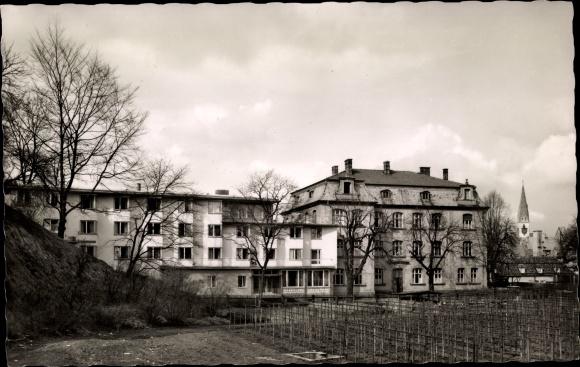 Ak Kempten im Allgäu Schwaben, Johannisverein, Kinderheim und Altersheim, Außenansicht