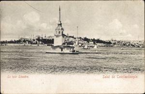 Ak Konstantinopel Istanbul Türkei, Le tour Léandre, Leanderturm, Leuchtturm