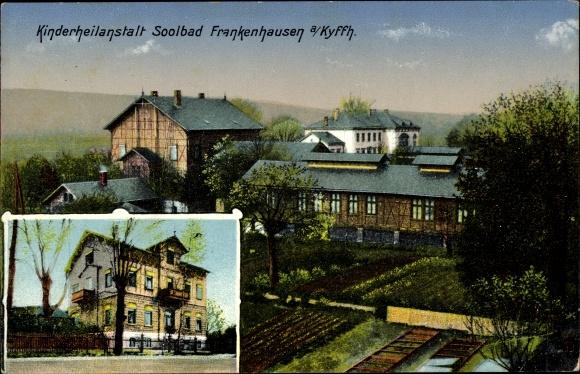 Ak Bad Frankenhausen am Kyffhäuser Thüringen, Kinderheilanstalt, Ansicht m. Garten, Straßenseite