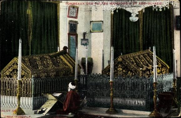 Ak Konstantinopel Istanbul Türkei, Tombeaux des Sultan Mahmoud et Abd Ul Aziz, Mausoleum, Gräber