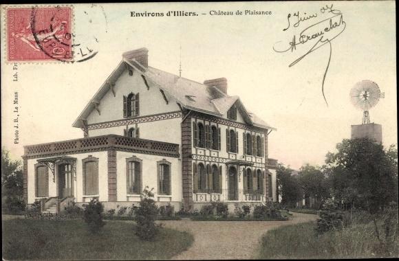 Ak Illiers Combray Eure et Loir, Château de Plaisance