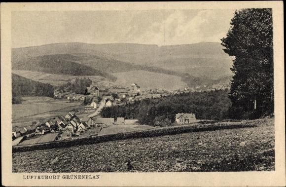 Ak Grünenplan Delligsen in Niedersachsen, Totalansicht vom Ort