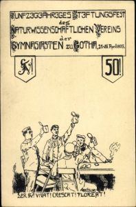 Studentika Ak Gotha Thüringen, 50jh Stiftungsfest des Naturwiss. Vereins der Gymnasiasten 1905