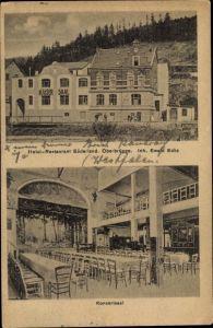 Ak Oberbrügge Halver im Märkischen Kreis, Hotel Restaurant Süderland, Inh. Ewald Ecks, Konzertsaal