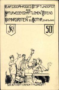 Studentika Ak Gotha Thüringen , 50jh Stiftungsfest des Naturwiss. Vereins der Gymnasiasten 1905