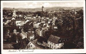 Ak Auerbach im Vogtland Sachsen, Gesamtansicht vom Ort