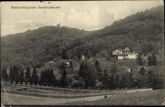 Ak Sondershausen im Kyffhäuserkreis Thüringen, Waldschlösschen