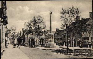 Ak Chipping Campden Gloucestershire England, Market Hall, Memorial