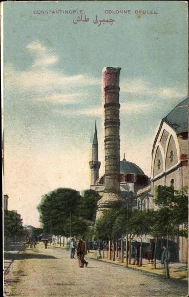 Ak Konstantinopel Istanbul Türkei, Colonne Brulée