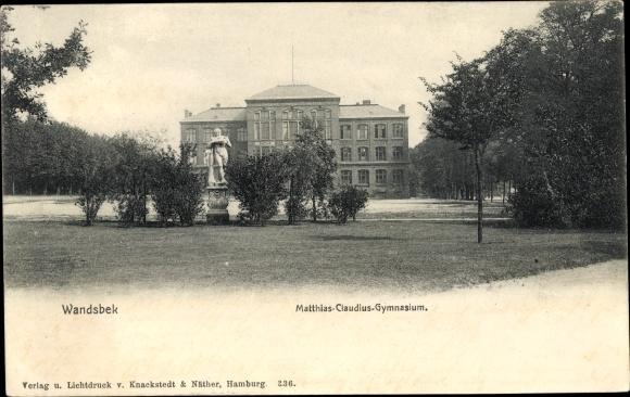 Ak Hamburg Wandsbek Matthias Claudius Gymnasium Gesamtansicht M