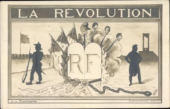Künstler Ak La Révolution, Republique Francaise, Französische Revolution, Schafott