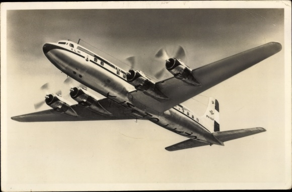 Ak Douglas DC 6 B, Passagierflugzeug, PH-KLM