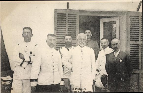 Ak Marokko, Amiral Philibert au Maroc, Französischer Admiral, Consul général de Mauperthuis