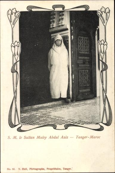 Passepartout Ak Tanger Marokko, Le Sultan Muley Abdul Aziz, Abd al Aziz